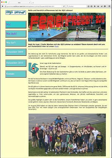 Unsere alte Webseite...